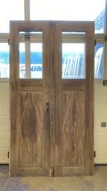 nr. set415 antieke geloogde deuren met 1 ruit