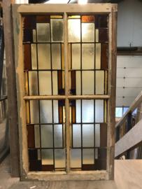 nr. GL439a groot glas in lood raam