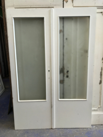 nr. set6566 setje deuren met mat glas