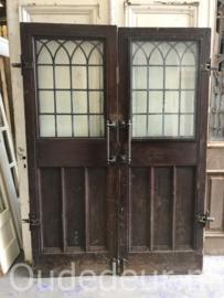 nr. set973 set oude deuren met glas in lood