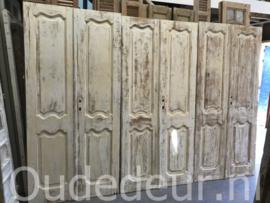 nr. set821 vier gelijke sets antiek deuren white wash