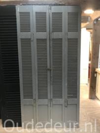 nr. L88 setje blauwe oude louvre deuren