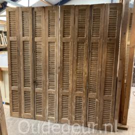 nr. L61 10 stuks smalle louvre deuren