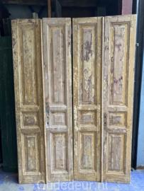 nr. set633 twee erg smalle sets antieke deuren