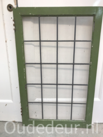 nr. GL386 raam met blank glas in lood