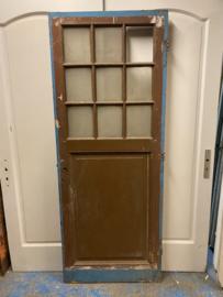 nr. 243 antieke deur met 9 ruiten