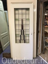 nr. GL545 glas in lood deur