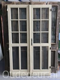 nr. set965 set antieke deuren met geslepen glas