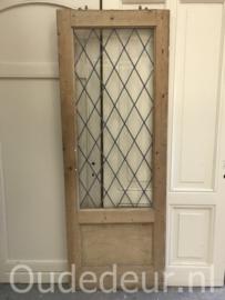 nr. gl443 geloogde glas in lood deur
