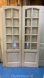nr. set615 set antiek deuren met ruitjes
