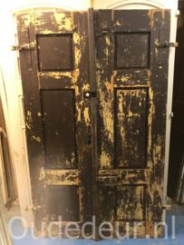 nr. set818 stel grove antieke deuren