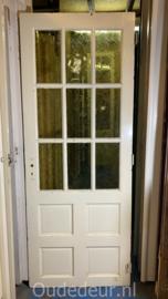nr. 2319 deur met half glas, 9 ruitjes