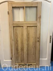 nr. 1293 antieke geloogde deur, 2 ruitjes