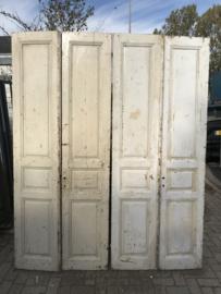 nr. set943 twee sets smalle oude deuren