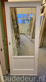 nr. GL561 deur met geëtste ruit