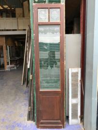 nr. 2196 smalle hoge deur met geëtst glas