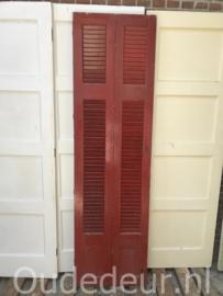 nr. L551 setje rode louvre deuren