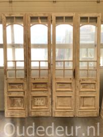 nr. set838 serie van zeven sets  hoge deuren met glas half geloogd