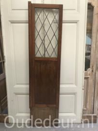 nr. gl357 hardhouten glas in loo deur