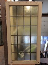 nr. GL243 glas in lood ruit geel glas