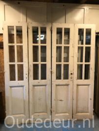 nr. set608 twee gelijke sets deuren met blank glas