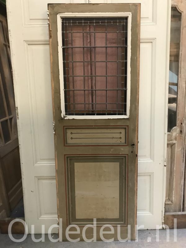 nr. gl345 stevige glas in lood deur