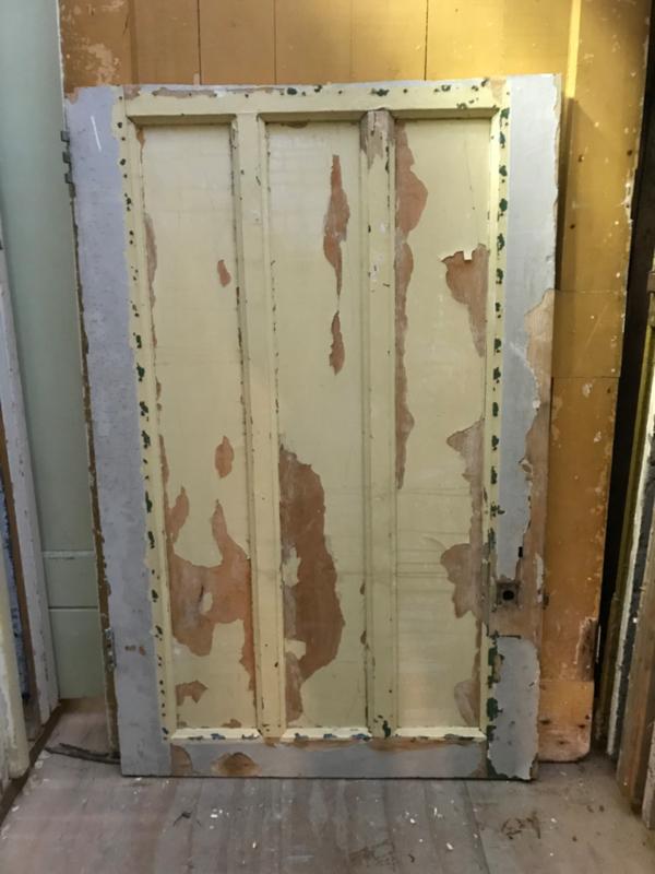 nr. 1976 jaren 30 paneeldeur met 3 staande panelen