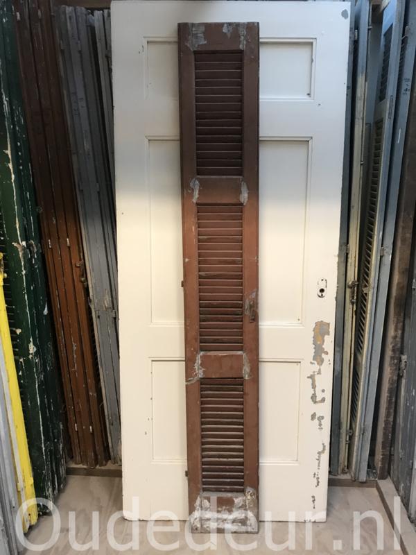 nr. L30 oude bruine louvre deur
