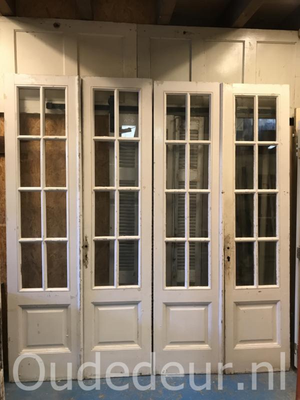 nr. set610 zeven gelijke sets antieke glasdeuren