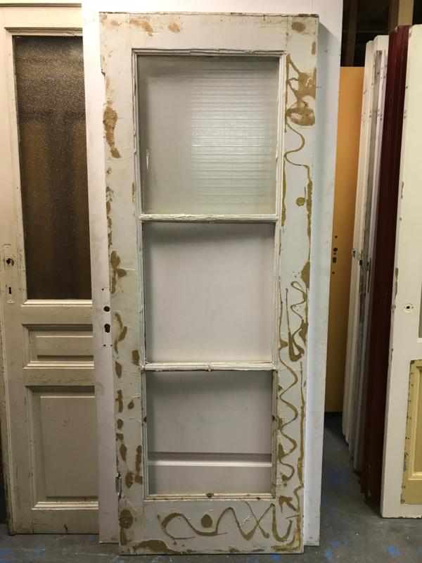 nr. 2204 glasdeur met 3 gelijke ruiten