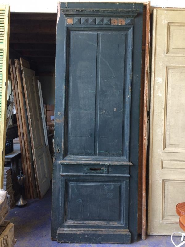 nr. v38 erg grote antieke grenen voordeur