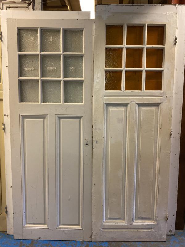 nr.777 antieke deuren met 9 ruitjes