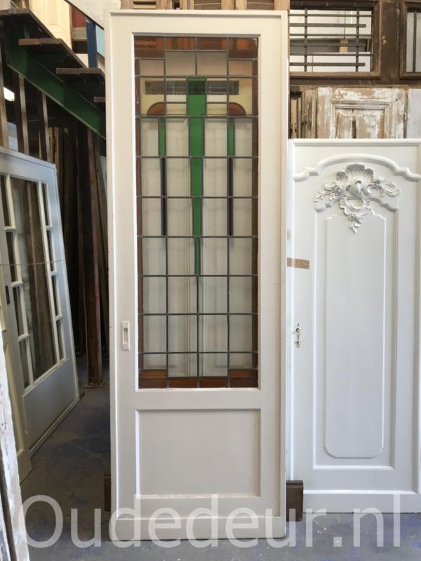 nr. GL434 grote glas in lood deur
