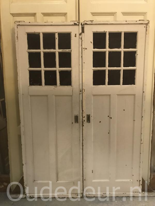 nr. e186 set van twee antieke ensuite deuren