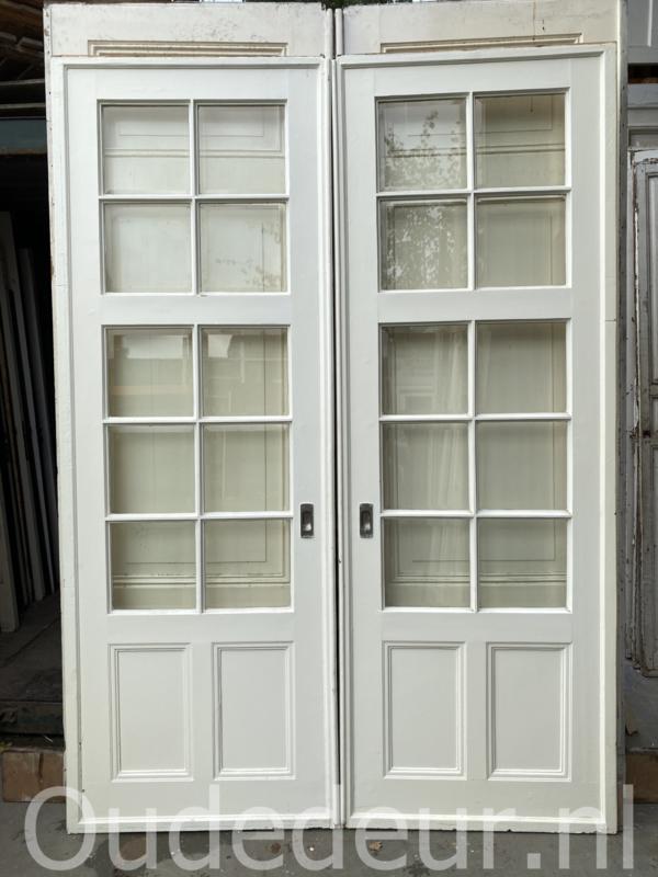 nr. e326 set hoge ensuite deuren met ombouw
