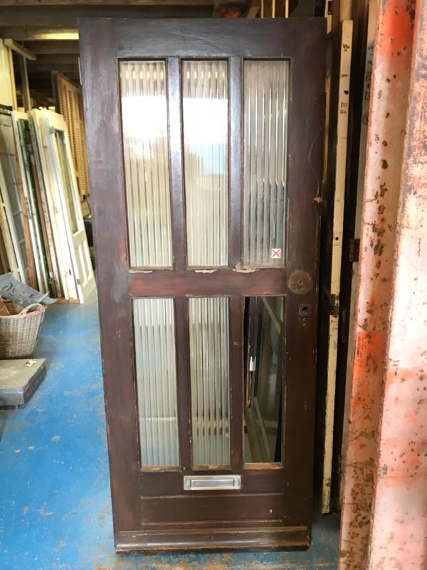 nr. v94 oude voordeur met glas