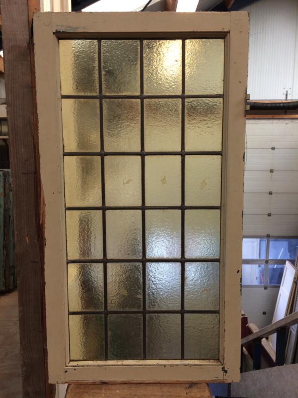 nr. GL242 glas in lood ruit geel glas
