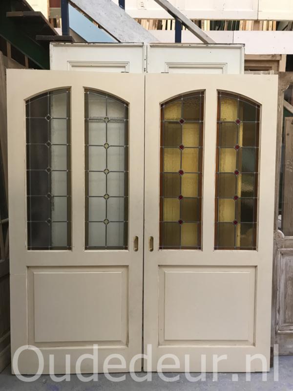 nr. gl361b nieuwere glas in lood deur (de linkse