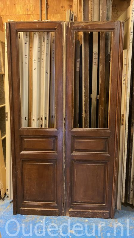 nr. set582 set antieke glasdeuren