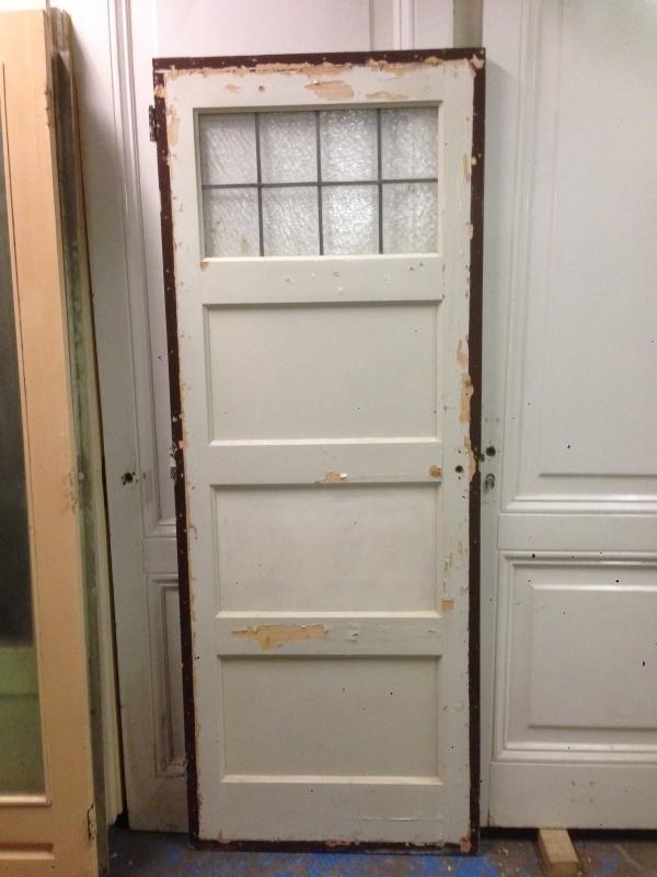 nr. gl101 jr 30 deur met glas in lood