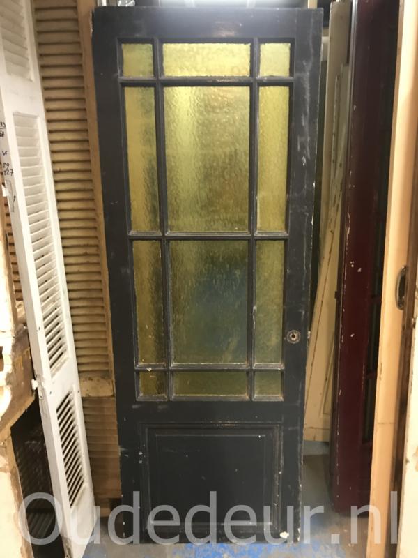 nr. 1279 antieke deur met geel glas