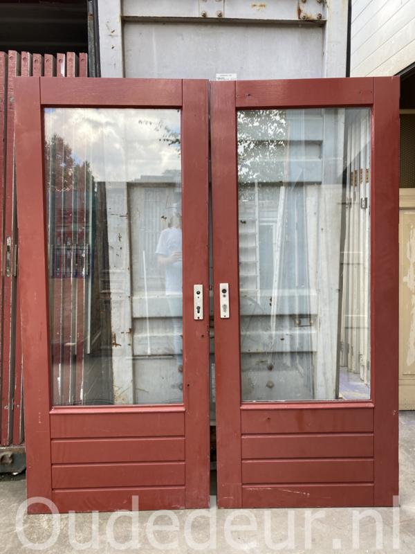 nr. a8 meerdere gelijke hardhouten achterdeuren in 87 x 202