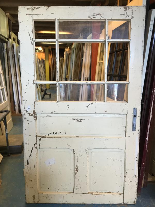 nr. 1318 erg brede antieke glasdeur