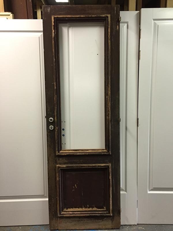 nr. 2109 antieke grenen glasdeur
