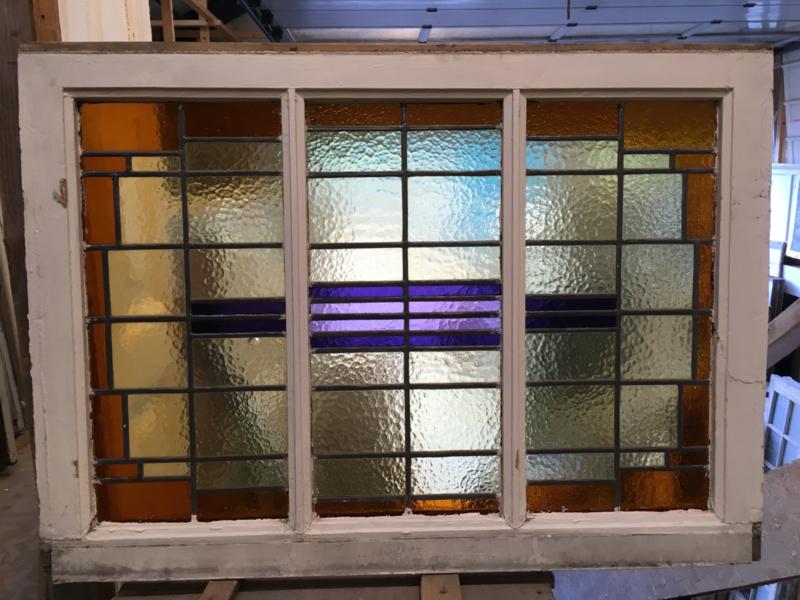 nr. GL364 gekleurde glas in lood ruiten (14stuks)
