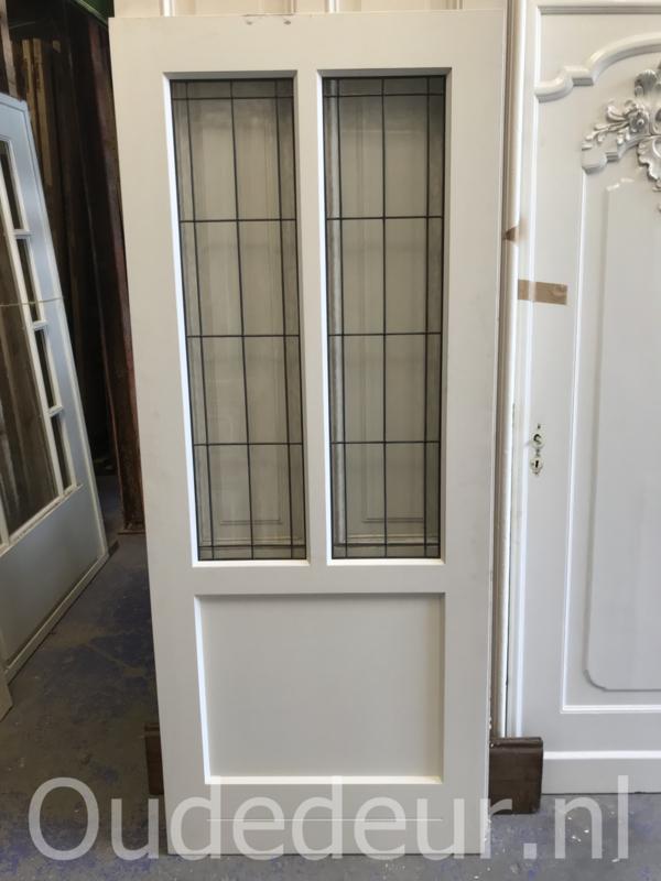 nr. GL431 deur met blank glas in lood