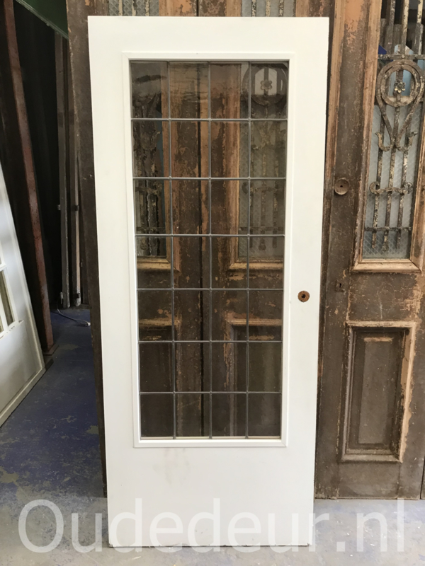 nr. GL379 glas in lood deur