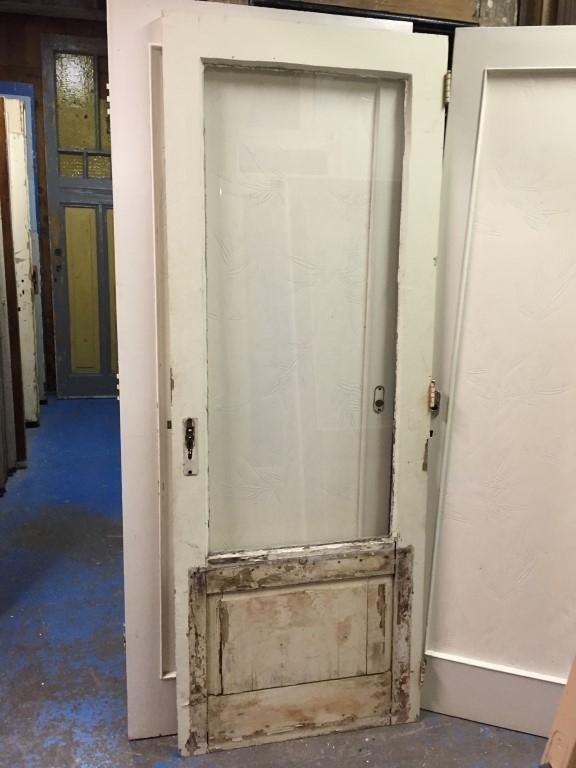 nr. 3132 gebruikte grenen achterdeur