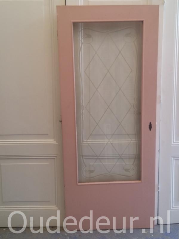 nr. gl335 deur met geetst glas
