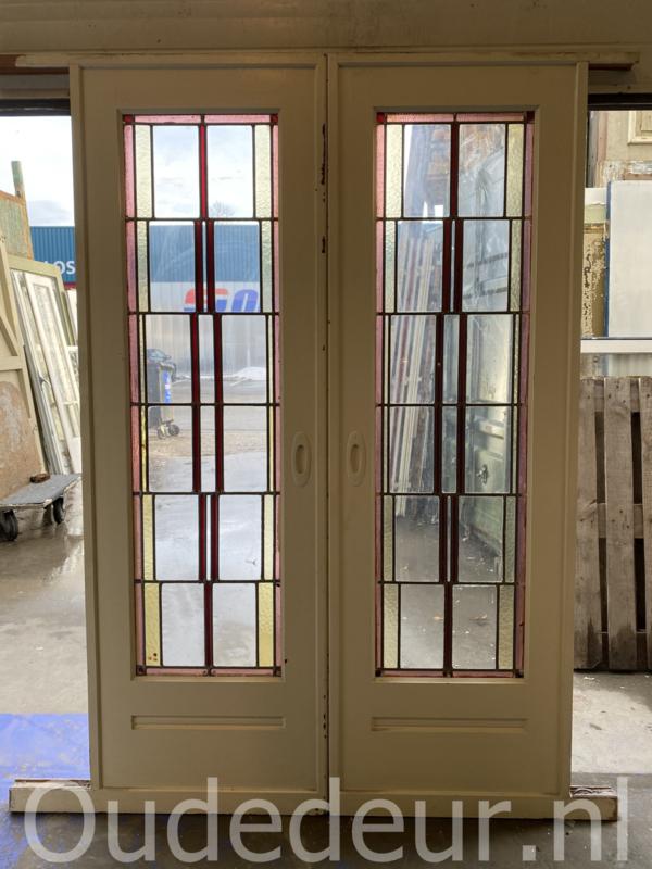 nr. E378 glas in lood ensuite deuren